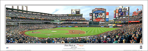 First Pitch at Citi Field (April 13, 2009) New York Mets Panoramic Poster Print - Everlasting