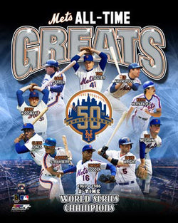 "New York Mets ""All-Time Greats"" 50th Anniversary Commemorative Print - Photofile"