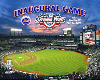 Citi Field Inaugural Game Commemorative (April 13, 2009) Premium Poster - Photofile Inc.