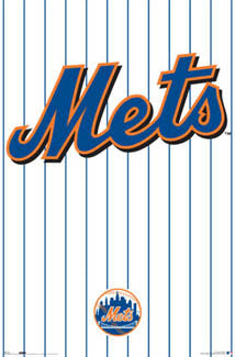 New York Mets Official MLB Baseball Logo Poster - Costacos Sports
