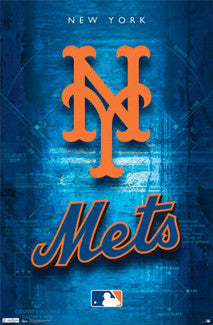 New York Mets Official MLB Team Logo Poster - Costacos Sports