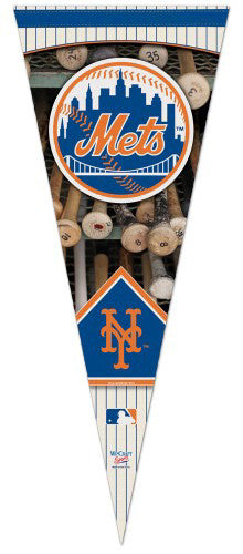 "New York Mets ""Batrack"" Premium Felt Collector's Pennant - Wincraft"