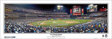 New York Mets Citi Field 2015 World Series Game 3 Panoramic Poster Print - E.I.