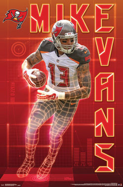 "Mike Evans ""The Perfect Receiver"" Tampa Bay Bucs NFL Action Wall Poster - Trends International"