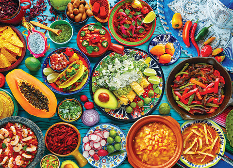 Mexican Cuisine Food Table Kitchen Restaurant Poster - Eurographics Inc.