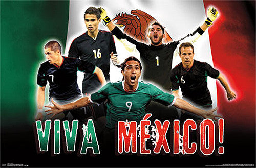 "Mexico National Soccer Team ""Viva Mexico"" World Cup 2014 Wall Poster - Costacos Sports"