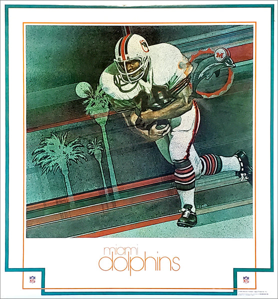 Miami Dolphins NFL Football Vintage Theme Art Poster (1979) - DAMAC Inc.
