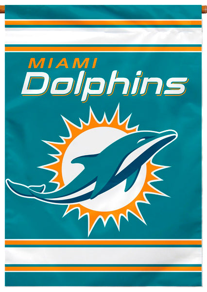 Miami Dolphins Official NFL Football Team Premium Banner Flag - BSI Products