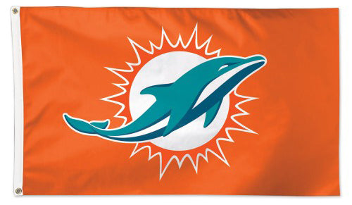 Miami Dolphins Official NFL Football 3'x5' Deluxe-Edition Flag - Wincraft Inc.
