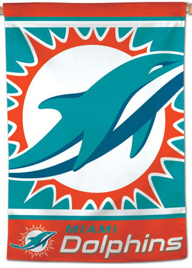 Miami Dolphins Official NFL Logo-Style 28x40 Team Wall BANNER - Wincraft Inc.