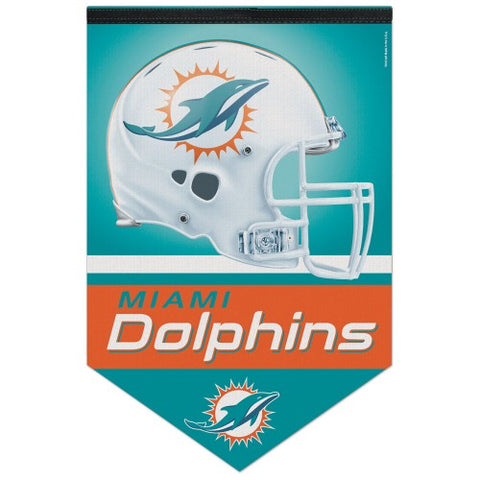 Miami Dolphins Official NFL Football Premium Felt Banner - Wincraft Inc.