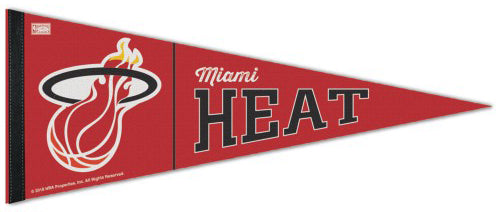 Miami Heat NBA Retro 1990s-Style Premium Felt Collector's Pennant - Wincraft Inc.
