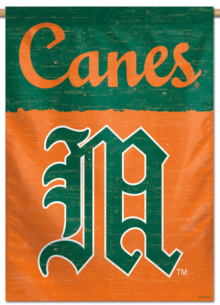 Miami Hurricanes NCAA College Vault Series 1950s-Style Official NCAA Premium 28x40 Wall Banner - Wincraft Inc.