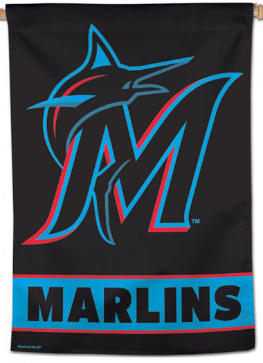 Miami Marlins Official MLB Baseball Team Logo Premium 28x40 Wall Banner - Wincraft Inc.