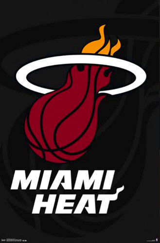 Miami Heat NBA Basketball Official Team Logo Poster - Trends International