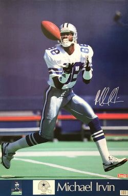 "Michael Irvin ""Signature Series"" Dallas Cowboys Action Poster - Marketcom 1992"