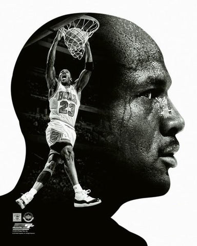 "Michael Jordan ""Pro File"" Chicago Bulls Premium Black-and-White Classic Poster Print - Photofile Inc."