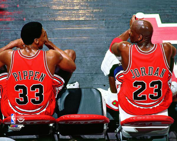 "Michael Jordan and Scottie Pippen ""Legendary Duo"" Chicago Bulls Premium Poster Print - Photofile Inc."