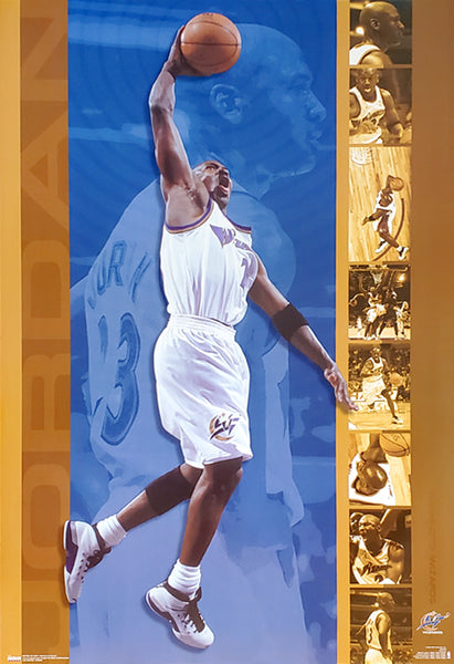 "Michael Jordan ""Golden"" Washington Wizards NBA Action Poster - Costacos 2002"
