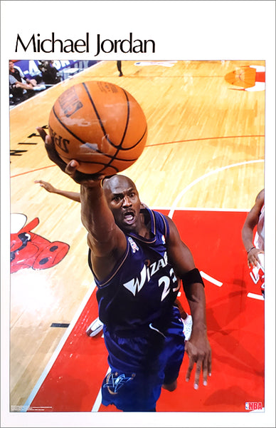"Michael Jordan ""Retro Special"" Washington Wizards NBA SI-Style Poster - Starline 2002"