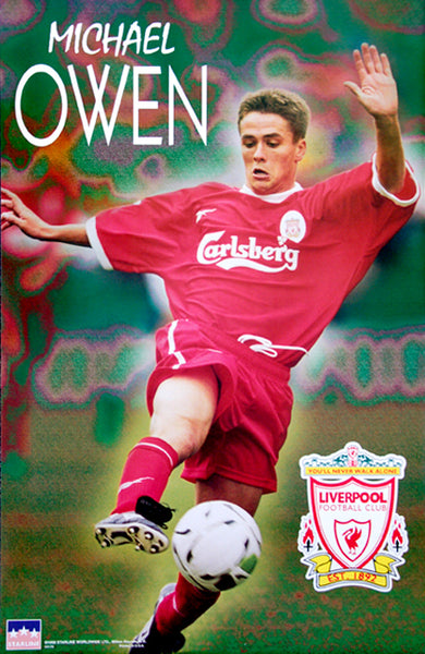 "Michael Owen ""Superstar"" Liverpool FC Poster - Starline 1998"