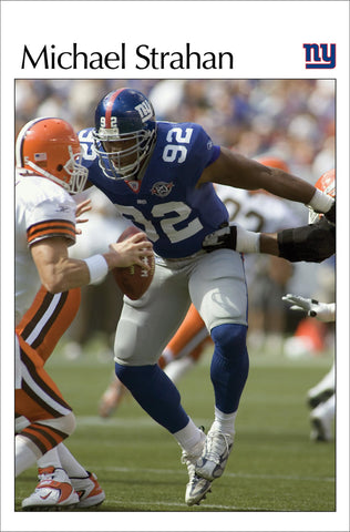 "Michael Strahan ""Nightmare"" New York Giants NFL Action Poster - Costacos 2005"