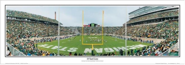 "Michigan State Spartans ""19 Yard Line"" Spartan Stadium Panoramic Poster - Everlasting Images"