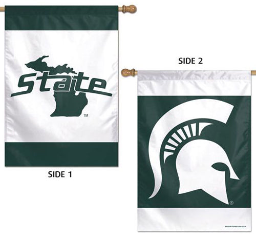 Michigan State Spartans Official NCAA Sports 2-Sided Vertical Flag Wall Banner - Wincraft Inc.