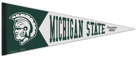Michigan State Spartans NCAA College Vault 1950s-Style Premium Felt Collector's Pennant - Wincraft Inc.