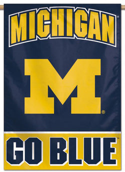 "Michigan Wolverines ""Go Blue"" Official NCAA Premium 28x40 Wall Banner - Wincraft Inc."