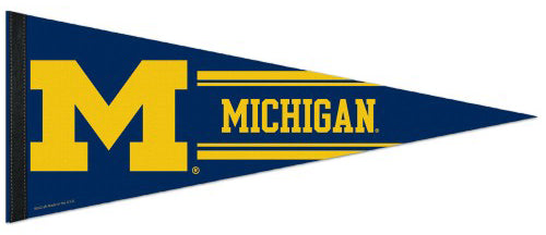 University of Michigan Wolverines Official NCAA Team Logo Premium Felt Collector's Pennant - Wincraft Inc.