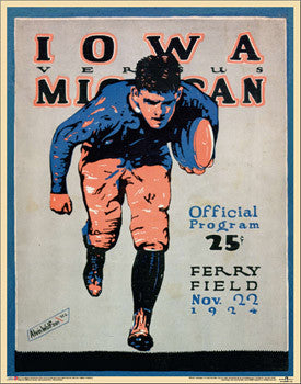 Michigan Wolverines Football 1924 Vintage Poster Reprint - Asgard Press