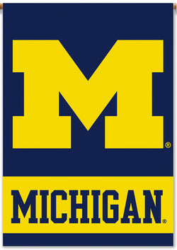 Michigan Wolverines Official Big-M Team Logo Wall Banner - BSI Products