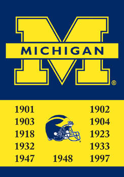 "Michigan Wolverines ""11-Time Football Champs"" Banner - BSI"