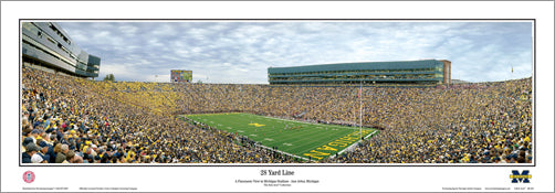 "Michigan Wolverines Football Gameday ""28 Yard Line"" Panoramic Poster Print - Everlasting Images"