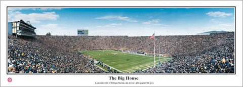 "Michigan Wolverines Football ""The Big House"" Michigan Stadium Panoramic Poster Print - Everlasting Images"
