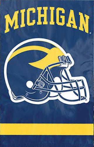 Michigan Wolverines Football Official NCAA Premium Applique Team Banner Flag - Party Animal