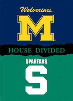 "Michigan/Michigan State ""House Divided"" Banner - BSI Prod."