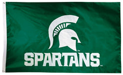 Michigan State Spartans Official NCAA Premium Nylon Applique 3'x5' Flag - BSI Products Inc.