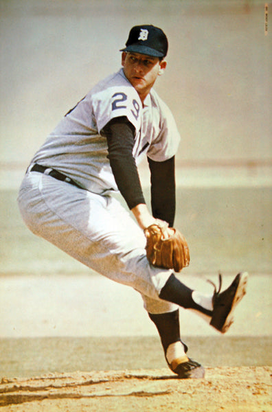 "Mickey Lolich ""Ace"" Detroit Tigers MLB Baseball Action Poster - Major League Posters 1970"