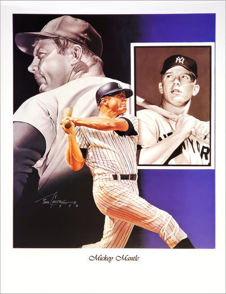"Mickey Mantle ""Legend"" New York Yankees Premium Art Poster Print by Tim Cortes"