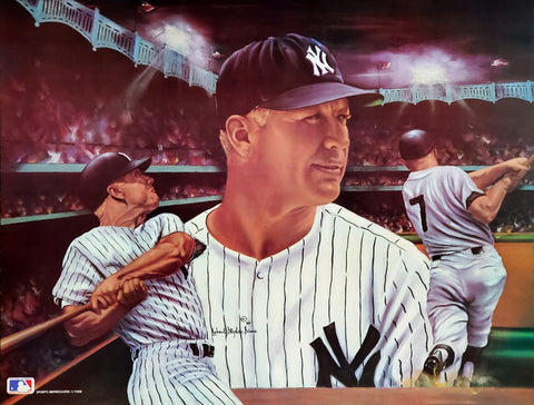"Mickey Mantle ""The Legend"" New York Yankees Art Collage Poster by Robert Stephen Simon - Sports Impressions Inc."
