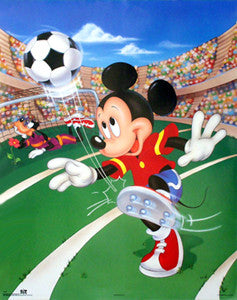 Mickey Mouse vs Goofy Disney Soccer Poster - OSP Publishing