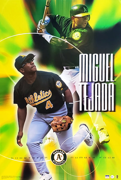 "Miguel Tejada ""Superstar"" Oakland A's MLB Baseball Action Poster - Starline 2003"