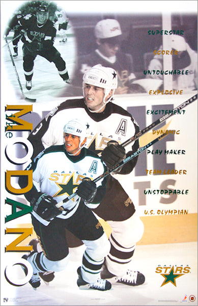 "Mike Modano ""Superstar"" Dallas Stars NHL Hockey Poster - Norman James Corp. 1998"