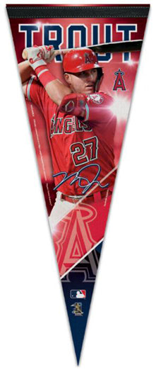 "Mike Trout ""Signature Series"" LA Angels Official MLB Premium Felt Pennant - Wincraft Inc."