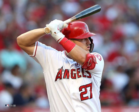"Mike Trout ""Intensity"" Los Angeles Angels Premium 16x20 MLB Baseball Poster Print- Highland Mint"