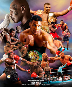 "Mike Tyson ""Iron Mike"" Boxing Career Commemorative Poster Print - Wishum Gregory"