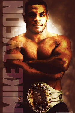 Mike Tyson WBC Heavyweight Boxing Champion (1986) Commemorative Poster - Pyramid America 2016