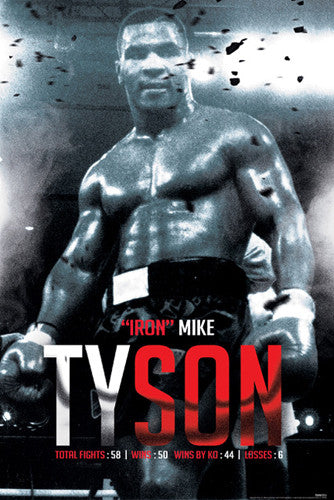 Iron Mike Tyson Career Tribute Boxing Poster - Pyramid America 2016